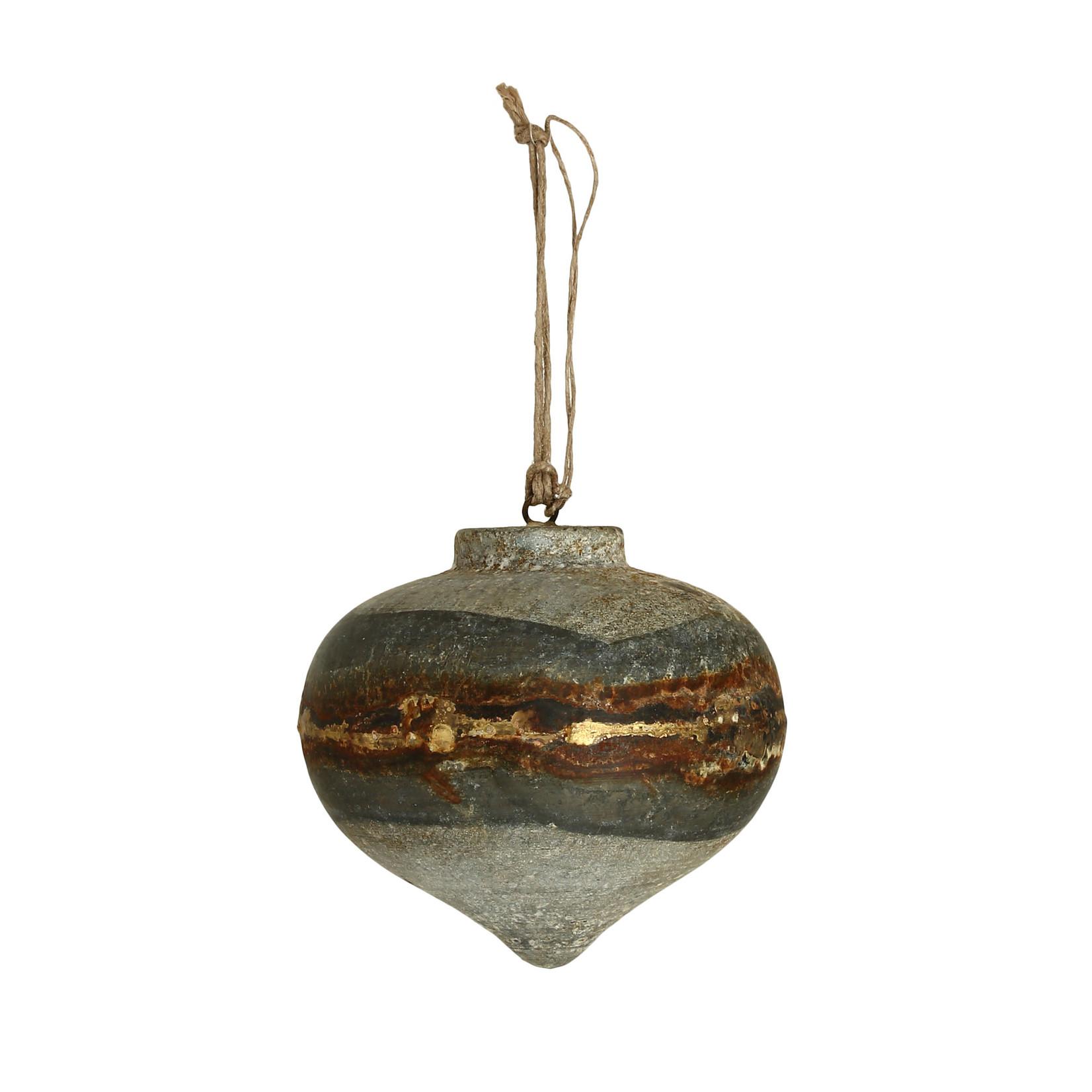 PTMD Christmas Bury iron grey ornament round L