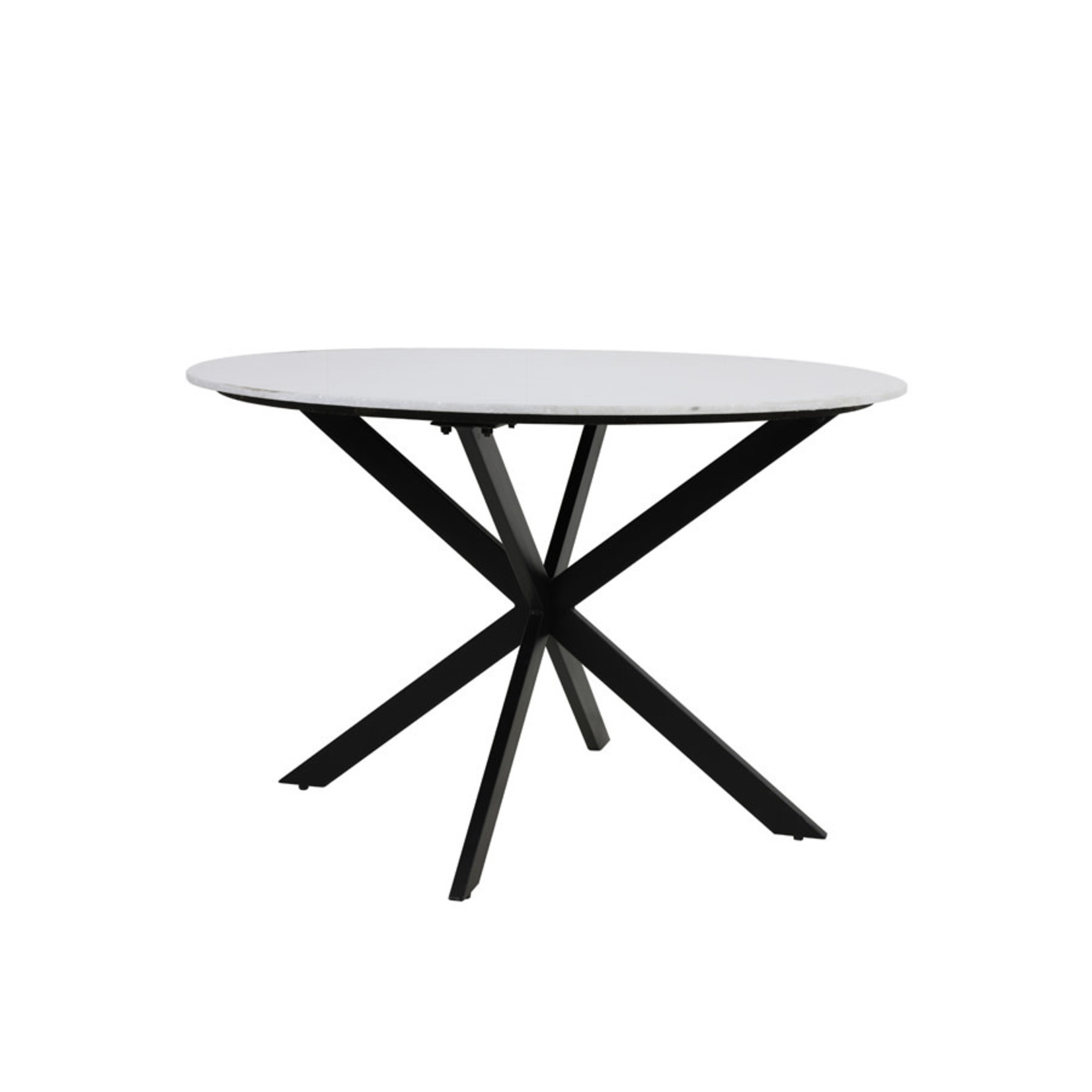 Light & Living Eettafel Ø120x78 cm TOMOCHI marmer wit+zwart