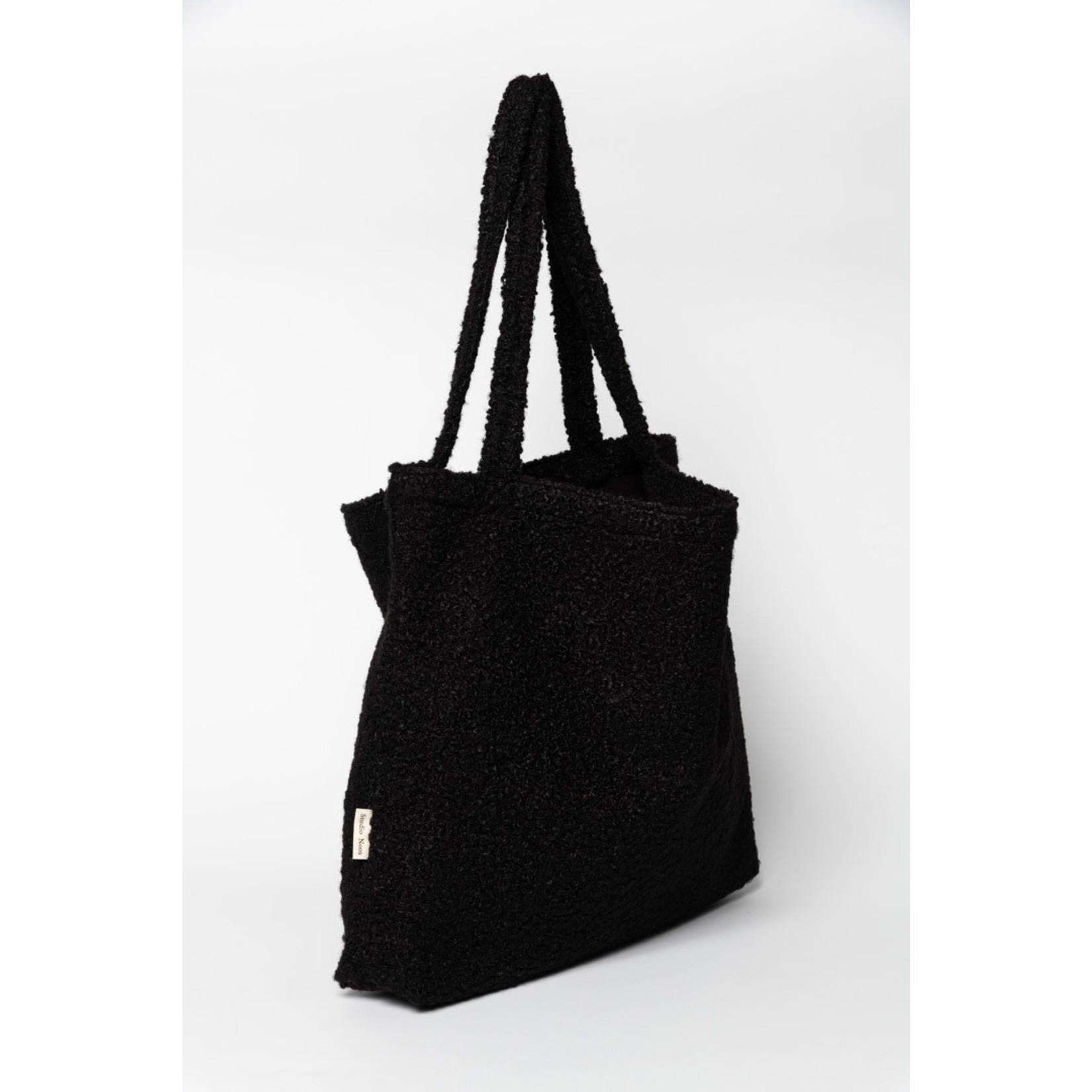Studio Noos Black bouclé mom-bag | Studio Noos