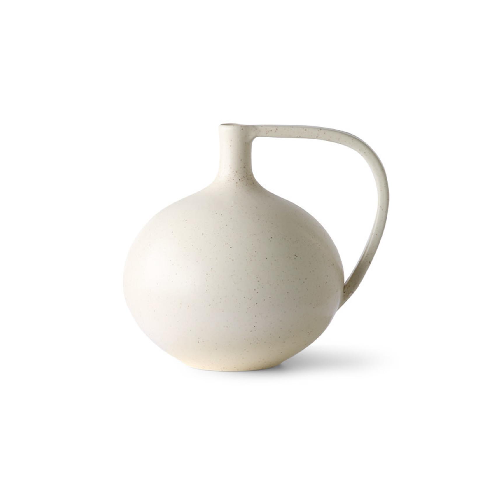 HK Living Hk living Ceramic Jar M White Speckled