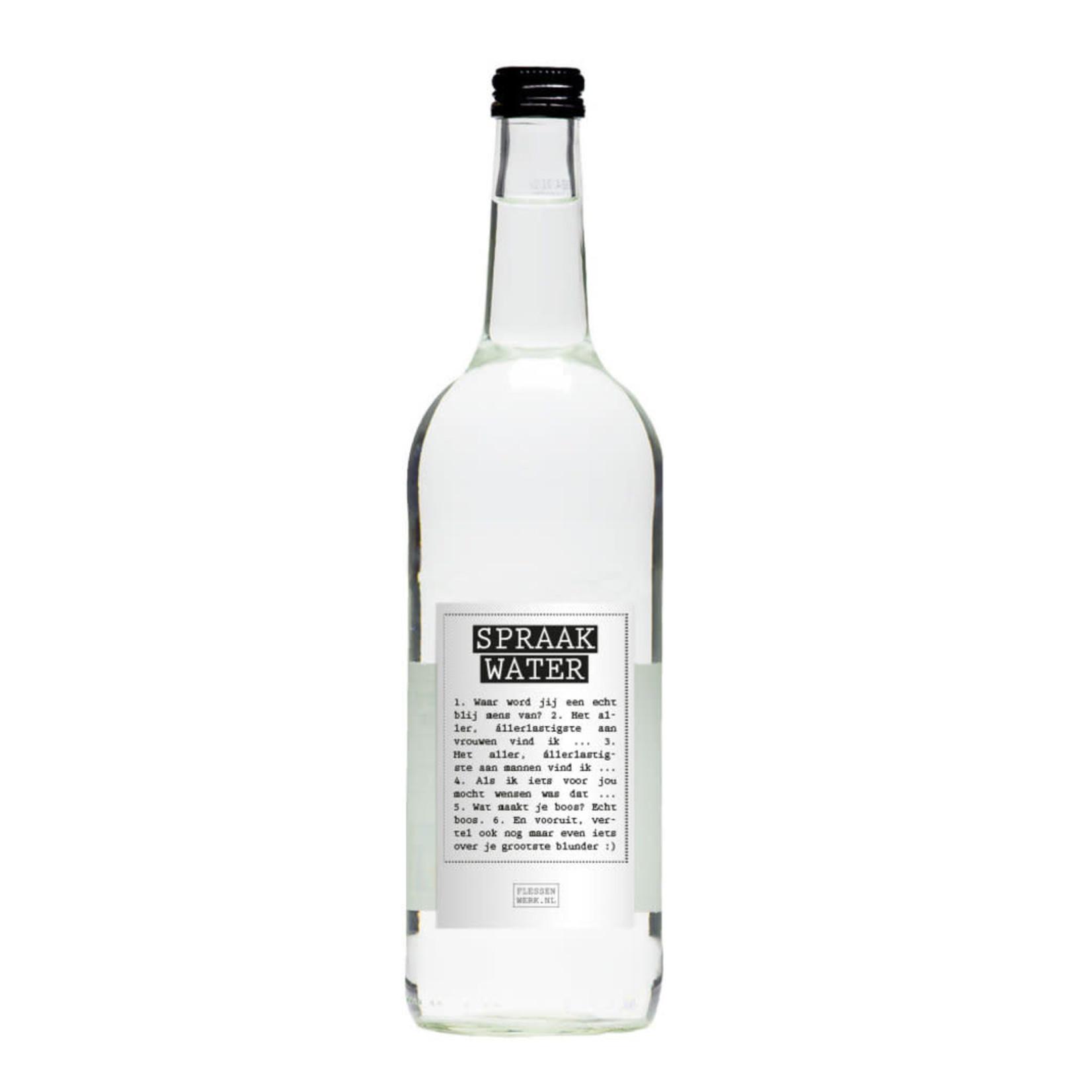 Flessenwerk Flessenwerk | Spraakwater