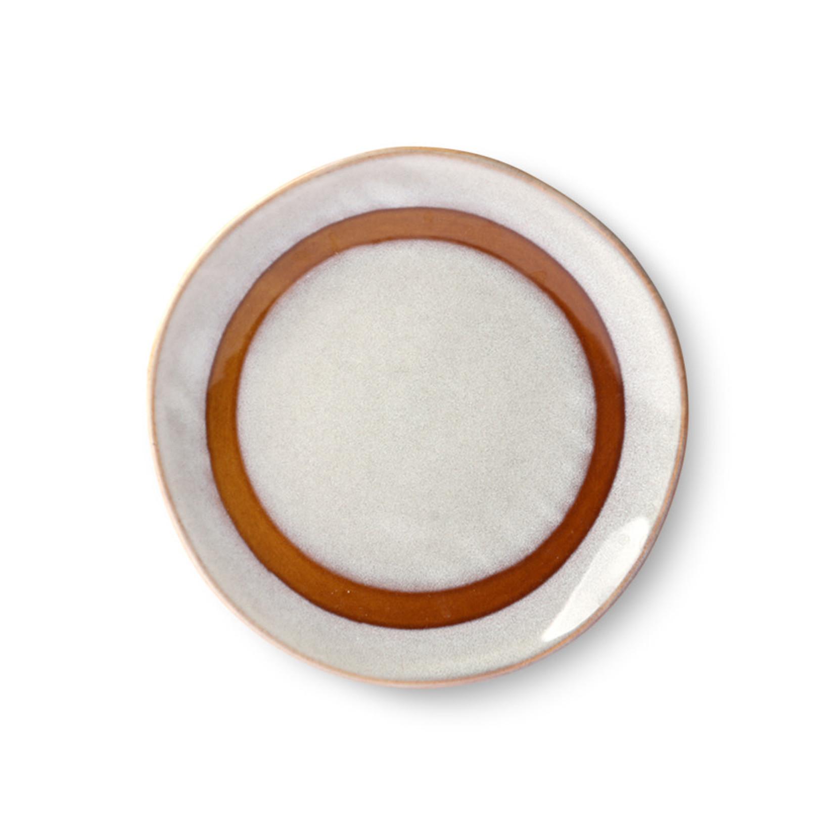 HK Living HK Living Ceramic 70's Dessert plate Snow