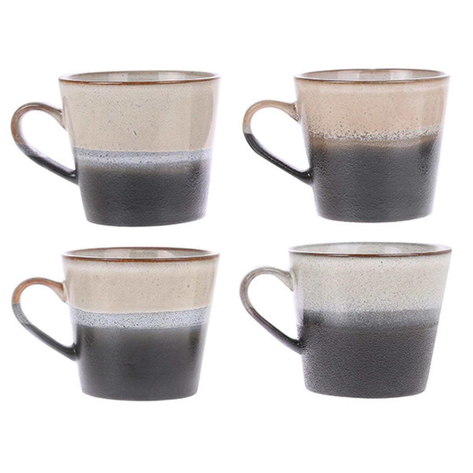 HK Living HK Living Ceramic 70's cappuccino mug Rock