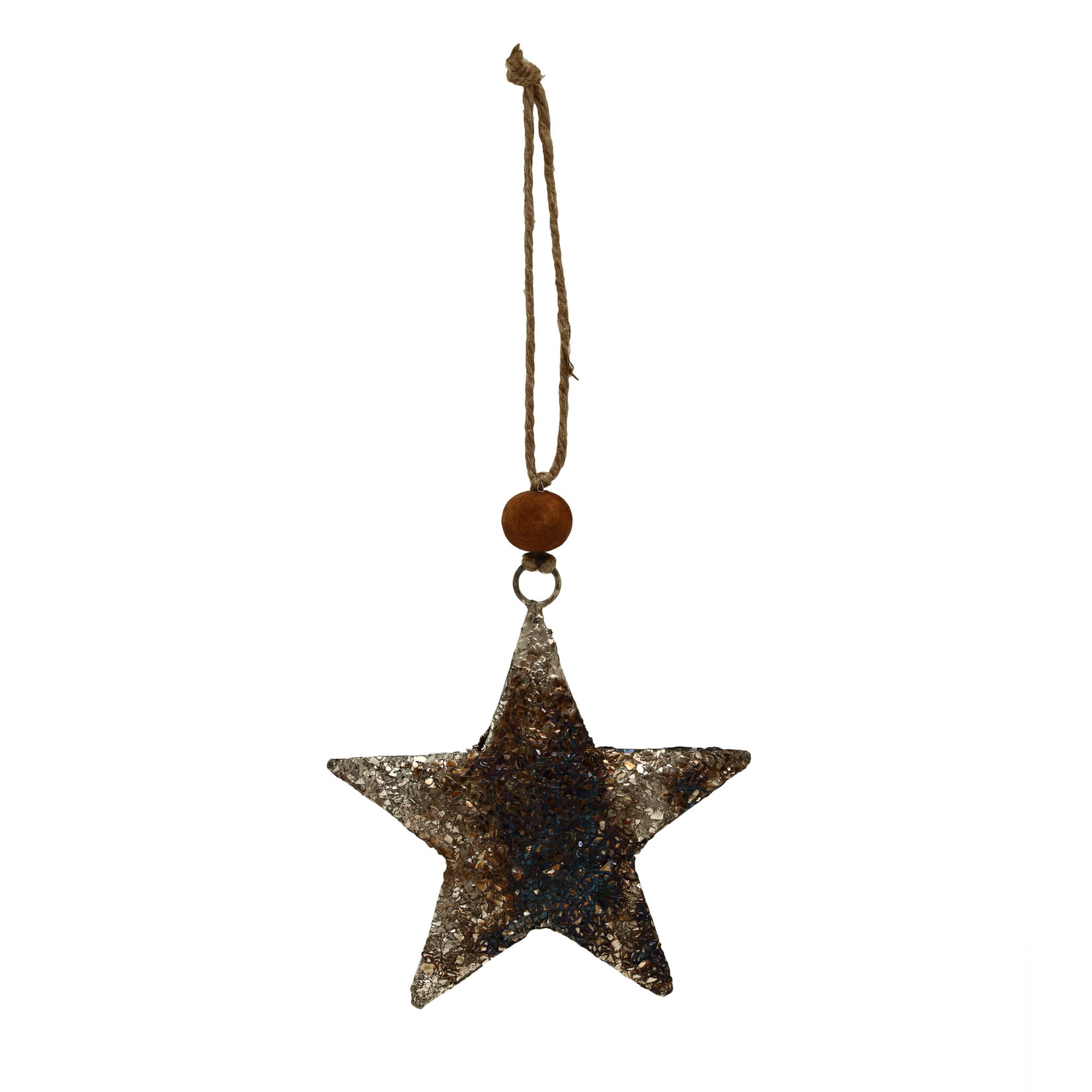 PTMD Christmas Xev antique silver iron hanging star