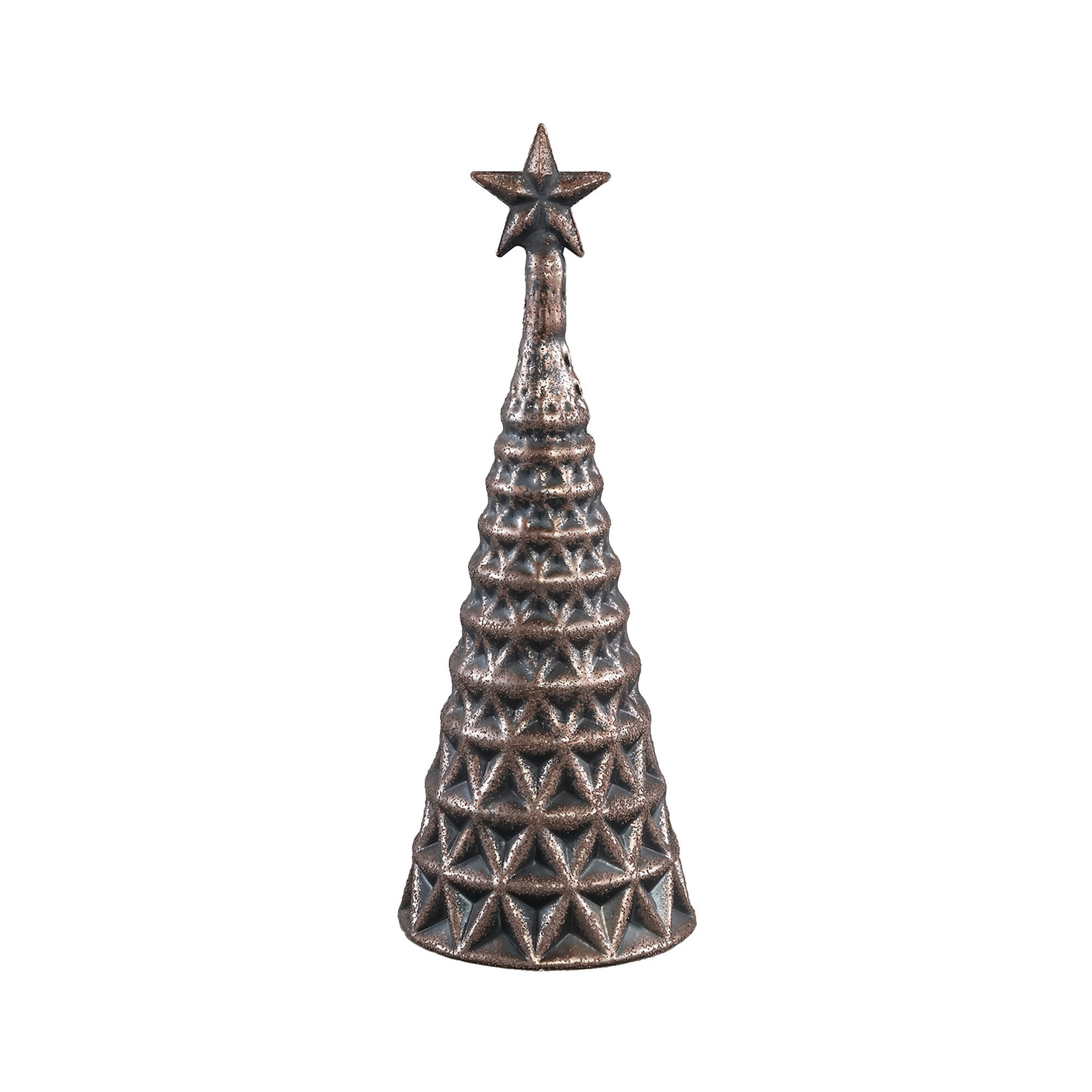 PTMD Christmas Aily brown glass tree star topper
