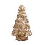 PTMD Christmas Lori rustic yellow glass tree statue S