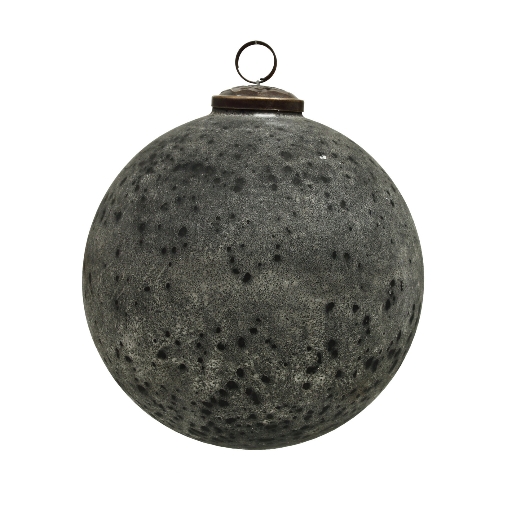 PTMD Christmas Noelle grey antique glass round ball L