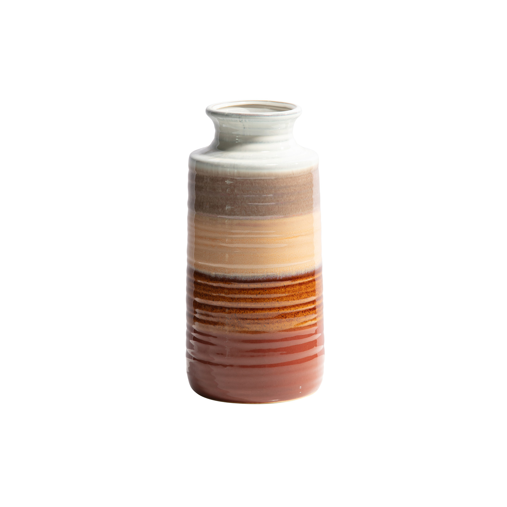 Be Pure Home Decennia vaas ceramic chestnut 30xØ14cm