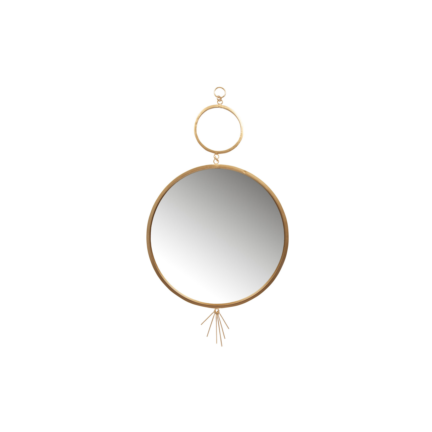 Be Pure Home Be Pure Tail spiegel metaal antique brass*