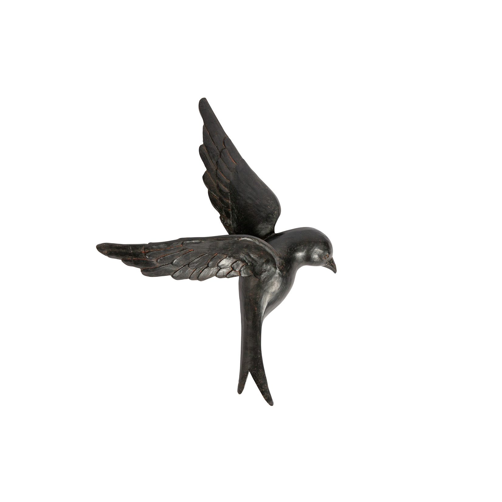 Be Pure Home Avaler vogel xl wandWoondeco hars zwart