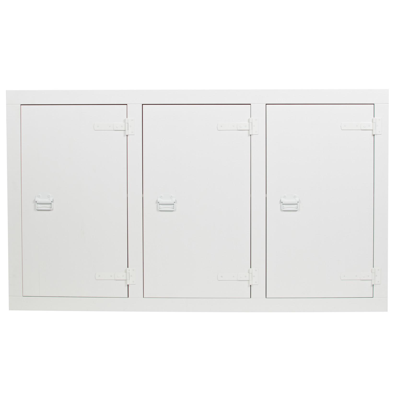 vtwonen Bunk Cabinet Grenen Bandzaag Wit [fsc]