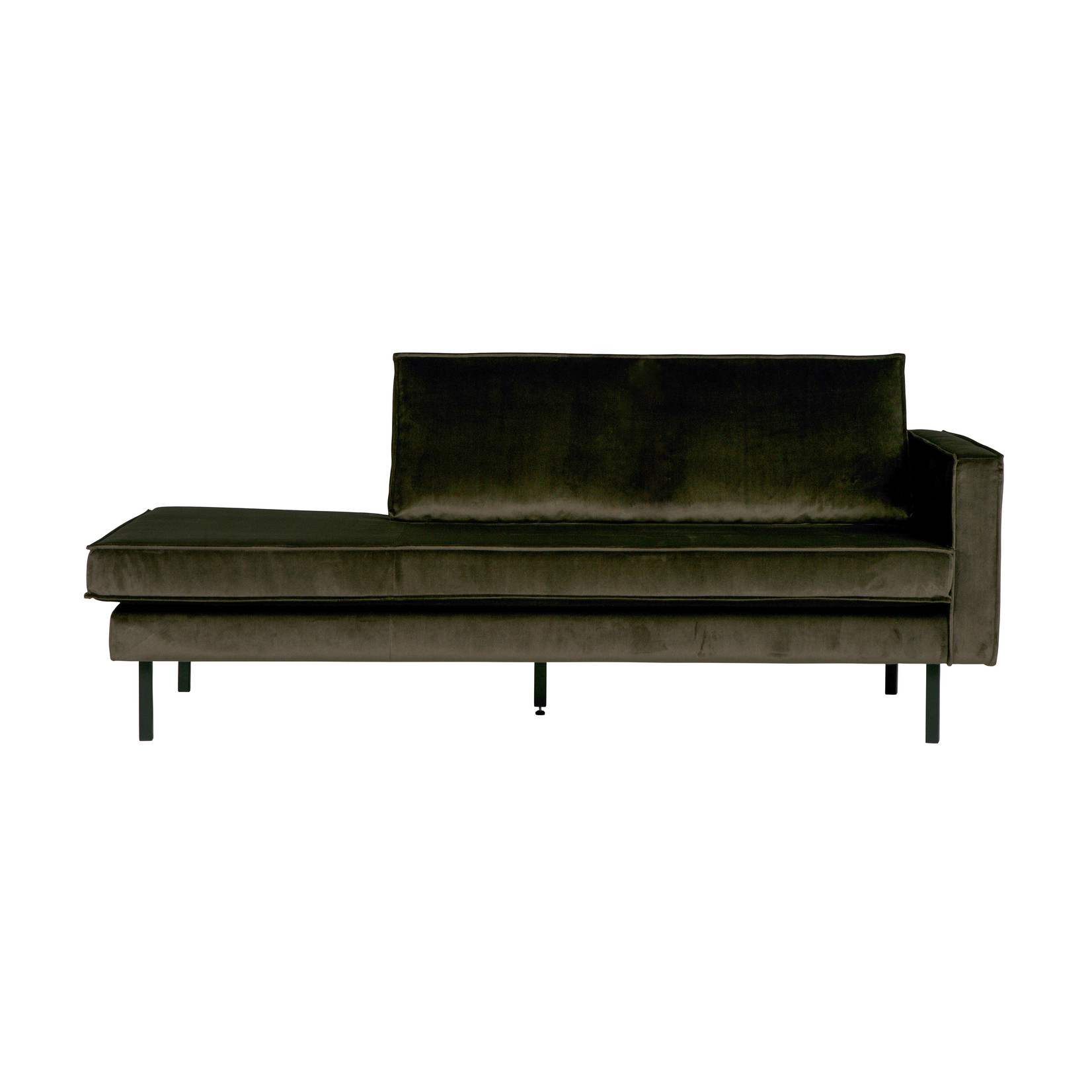 Be Pure Home Rodeo Daybed Right Velvet Dark Green Hunter