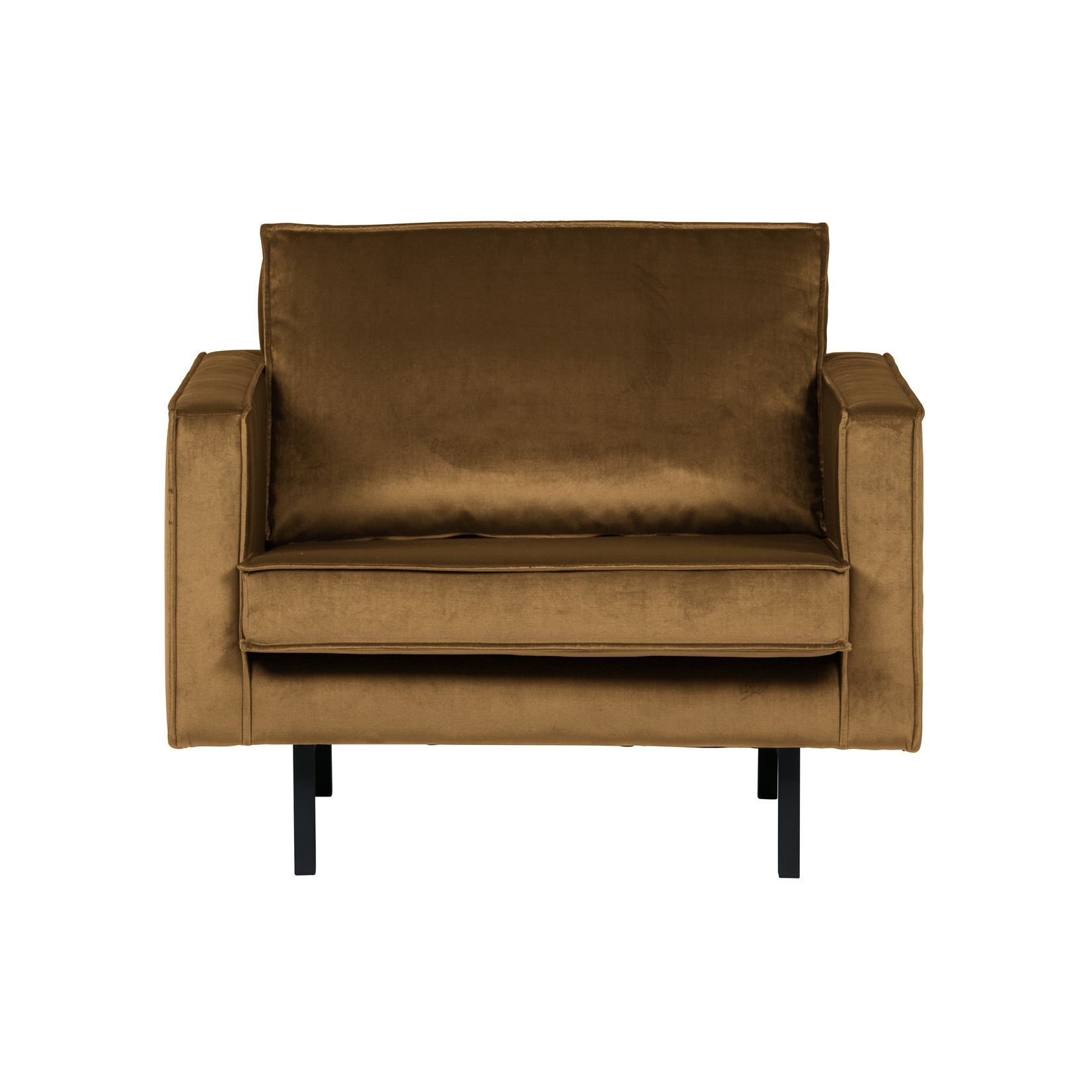 Be Pure Home Rodeo Fauteuil Velvet Honing Geel