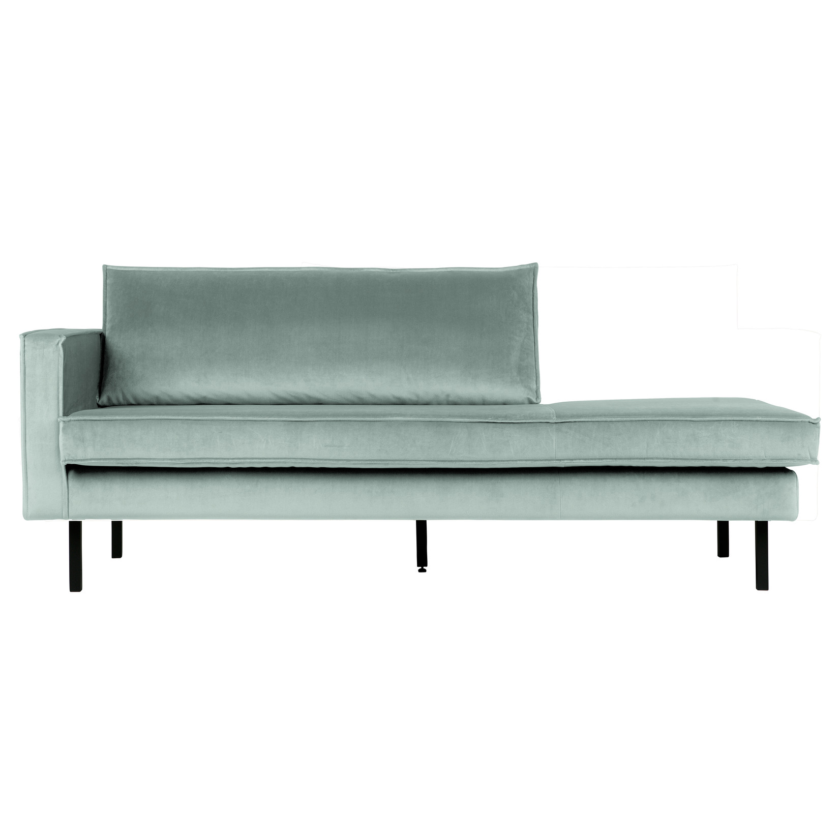 Be Pure Home Rodeo Daybed Left Velvet Mint
