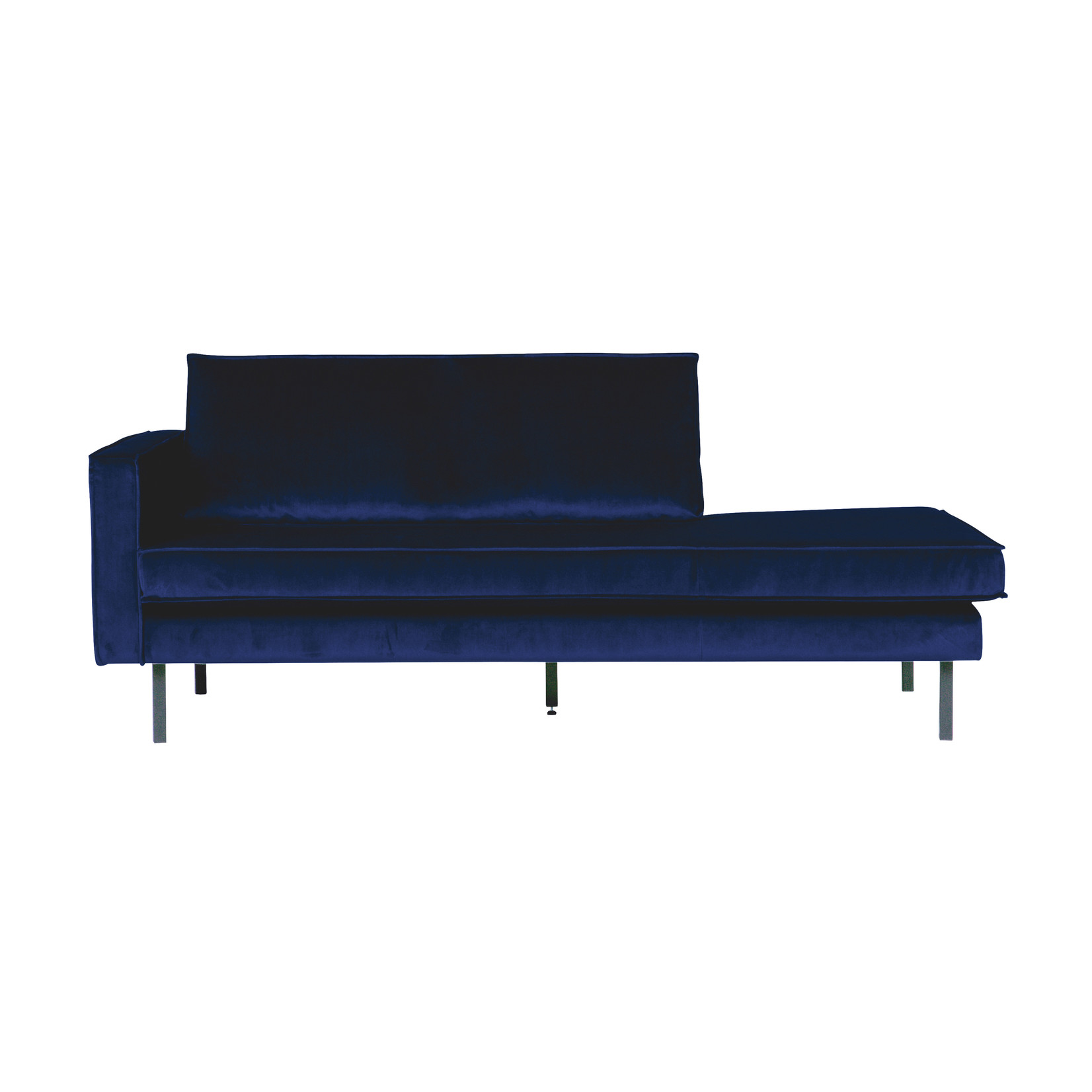 Be Pure Home Rodeo Daybed Left Velvet Dark Blue Nightshade