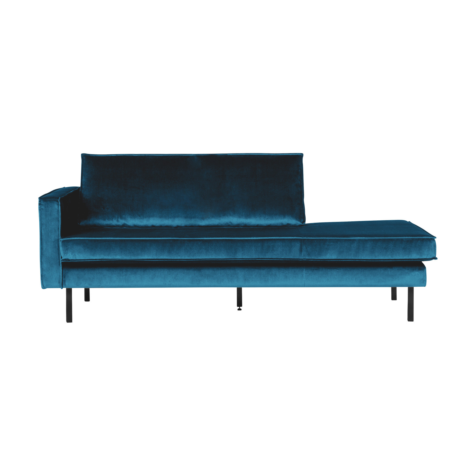 Be Pure Home Rodeo Daybed Left Velvet Blue