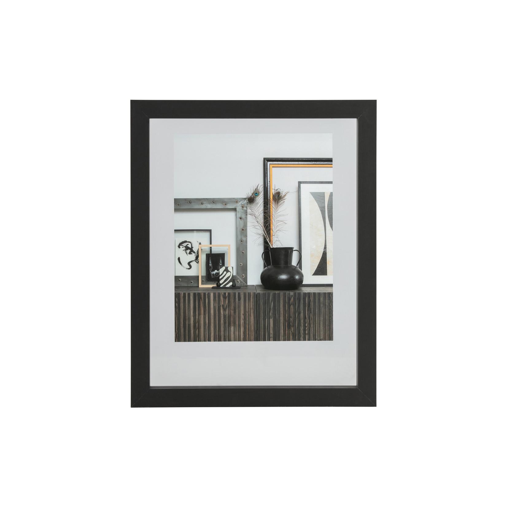 Woood Blake fotolijst met houten rand zwart 50x40