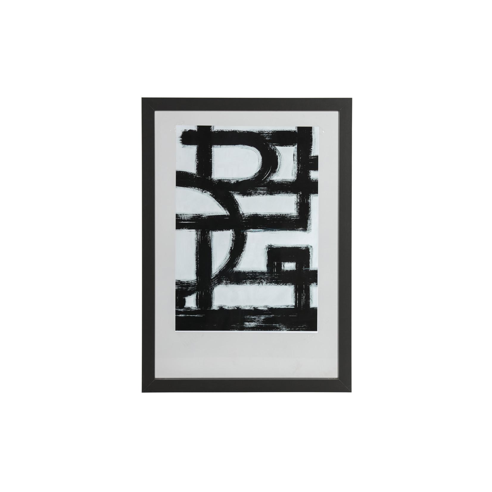 Woood Blake fotolijst met houten rand zwart 70x50