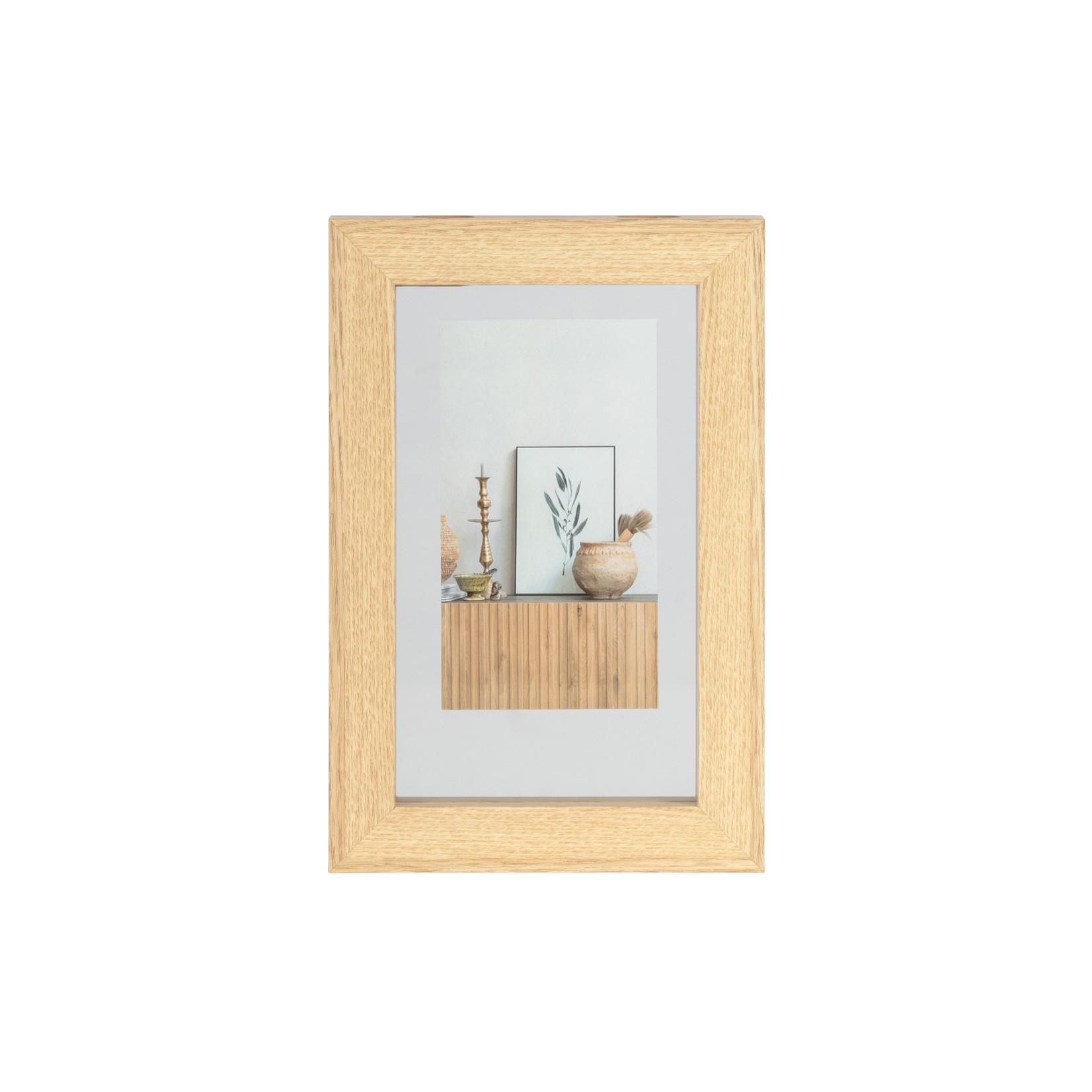 Woood Blake fotolijst met houten rand naturel 30x20