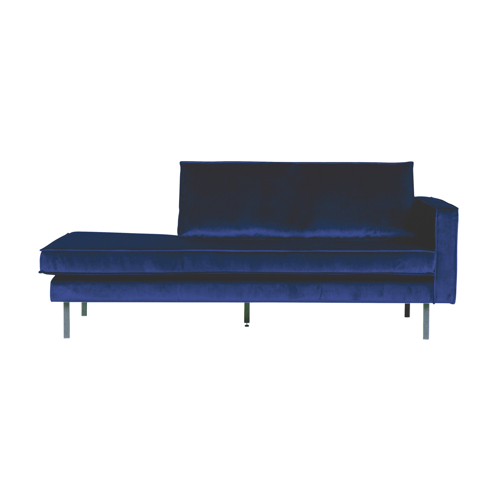 Be Pure Home Rodeo Daybed Right Velvet Dark Blue Nightshade