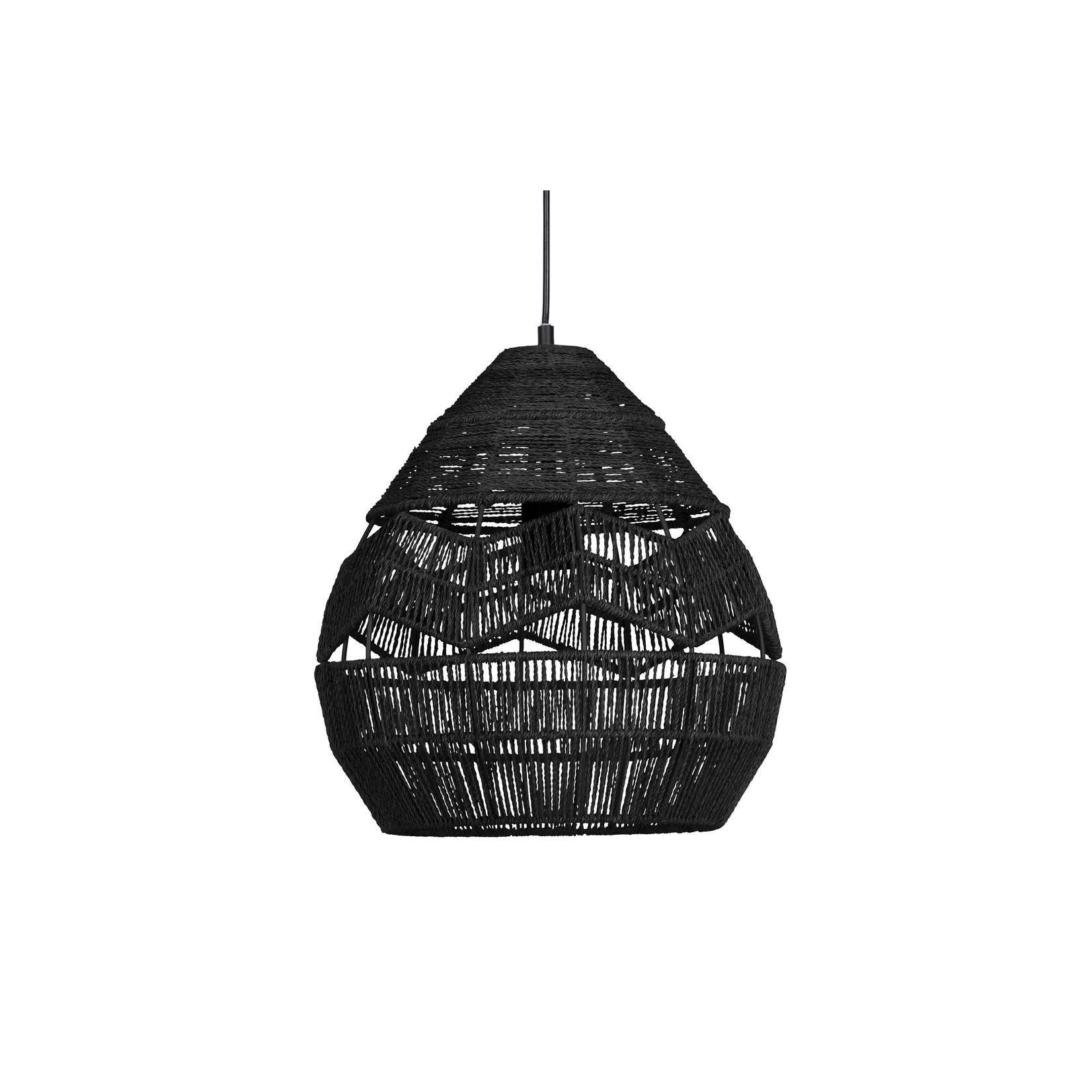 Woood Adelaide hanglamp zwart Ø35cm