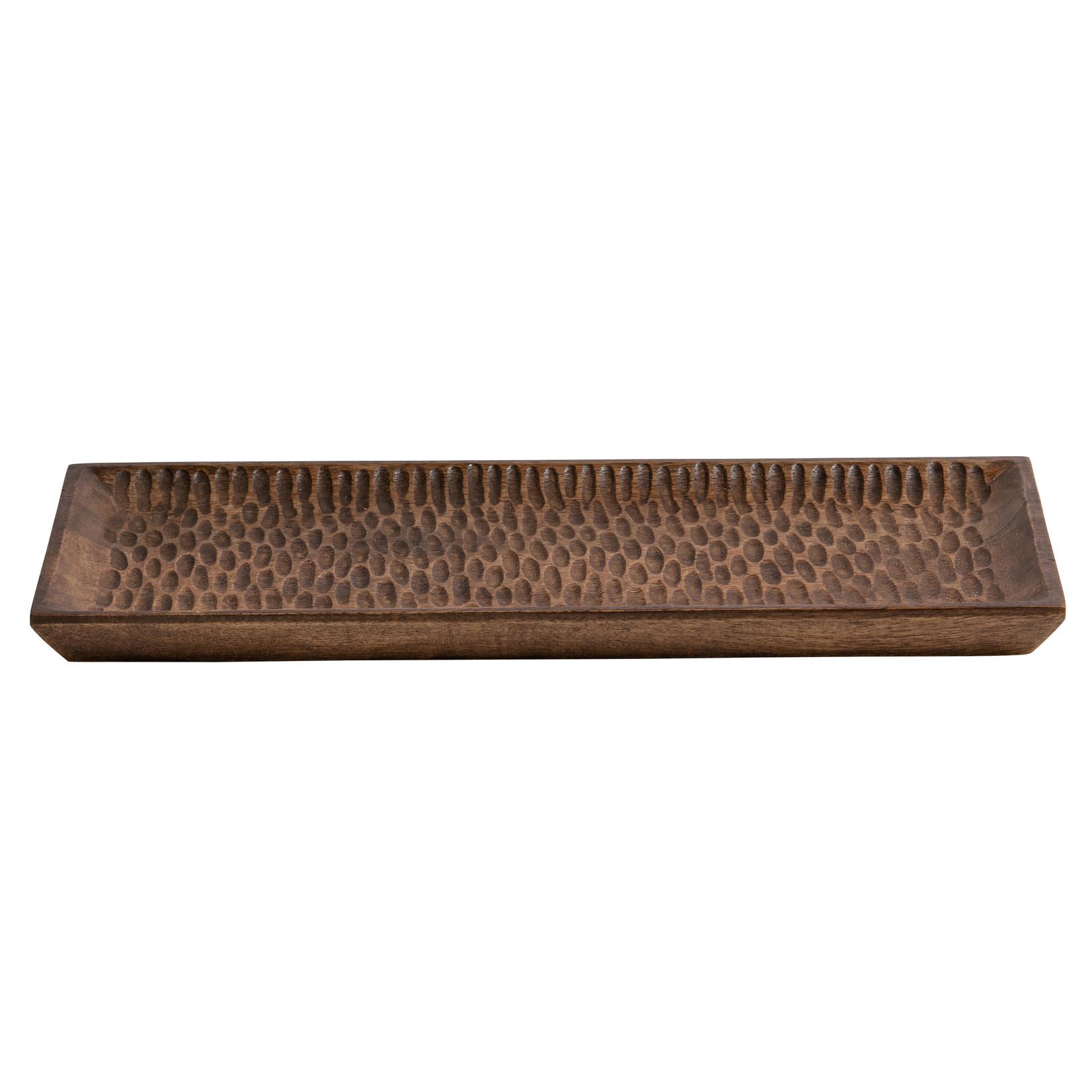 Woood Devan dienblad hout bruin 40x20cm