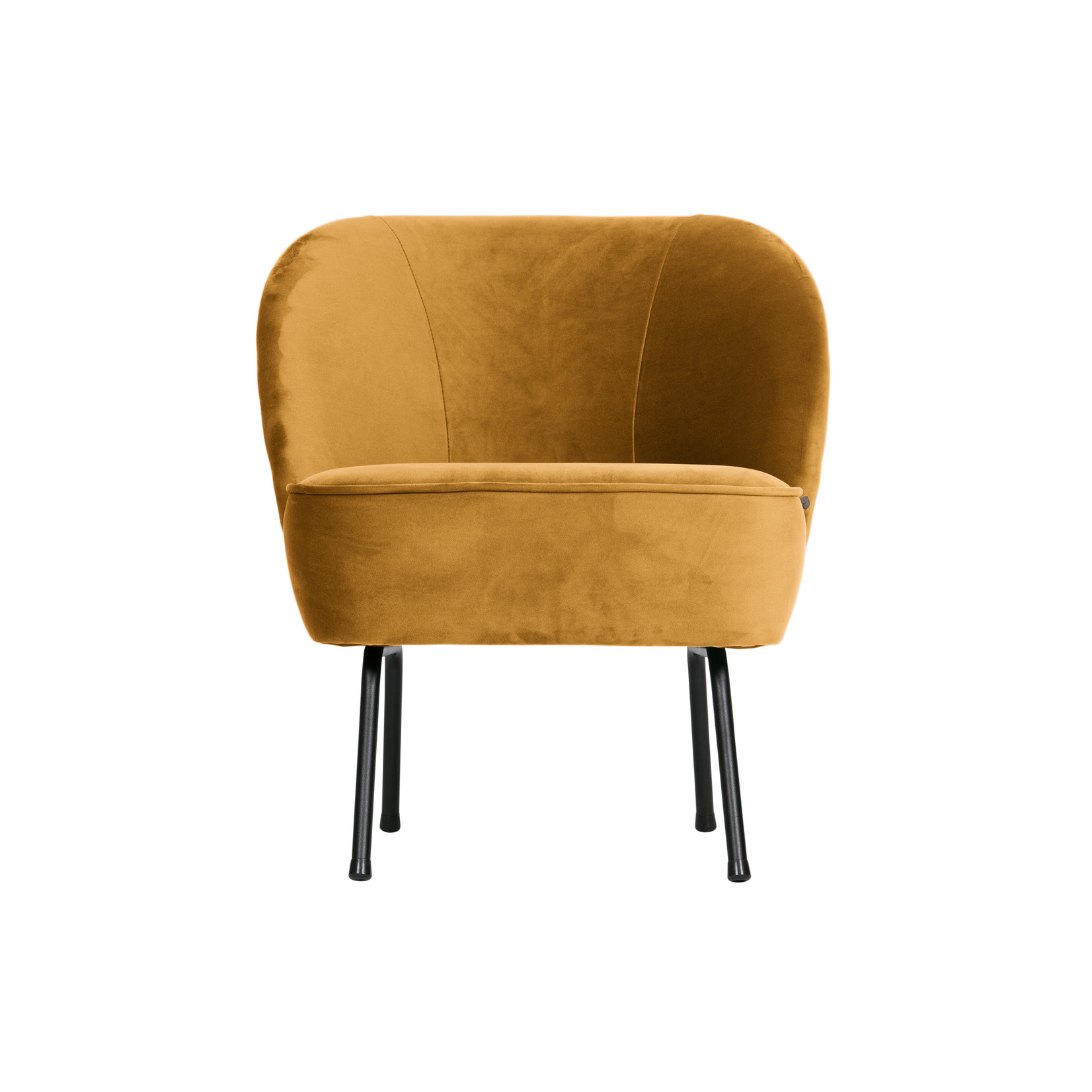 Be Pure Home Vogue Fauteuil Fluweel Mosterd