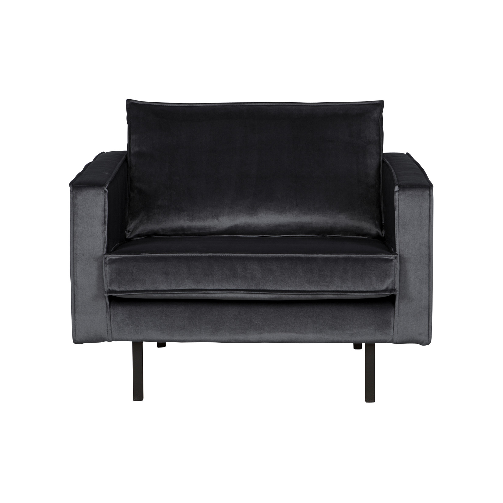 Be Pure Home Rodeo Fauteuil Velvet Dark Grey | 67