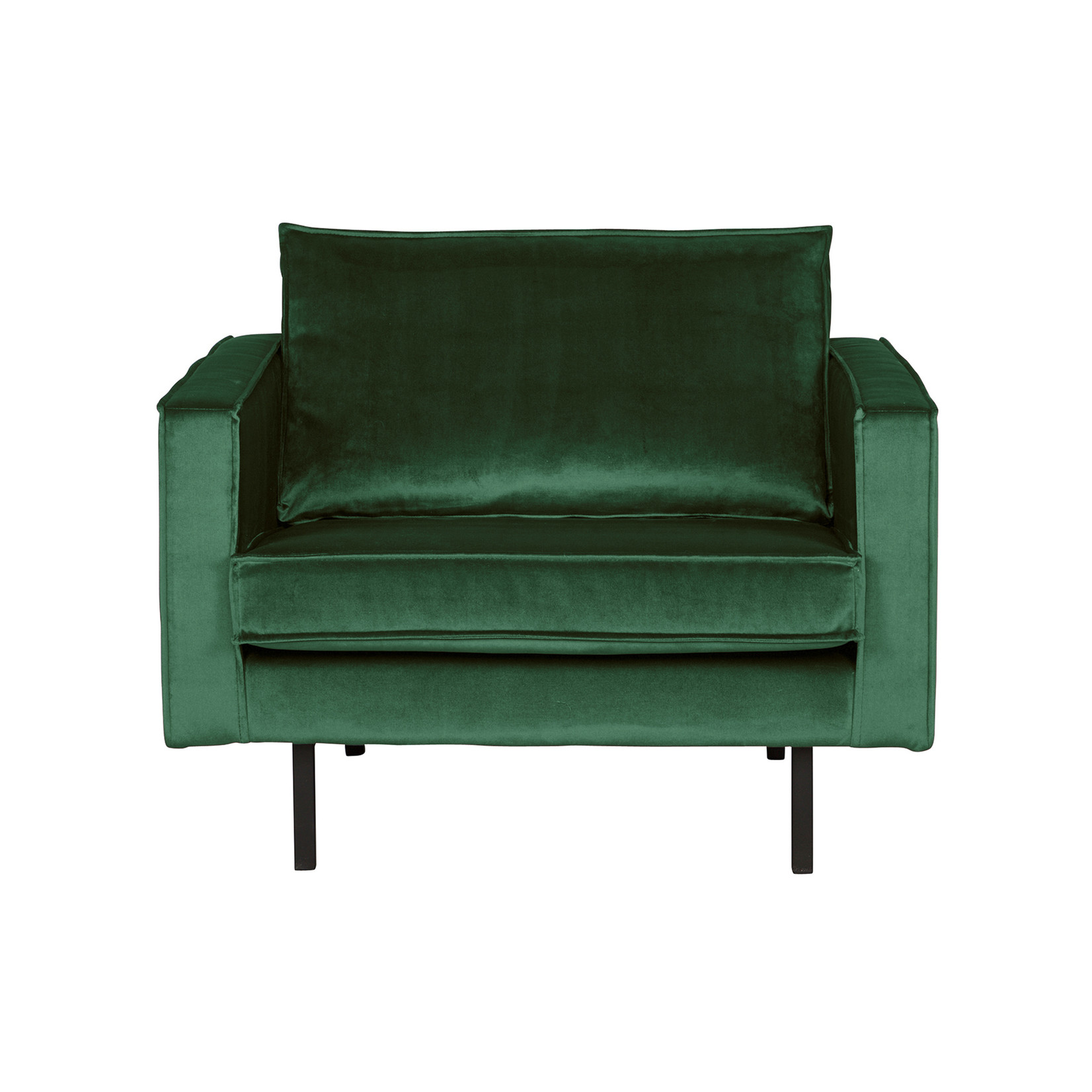 Be Pure Home Rodeo Fauteuil Velvet Green Forest