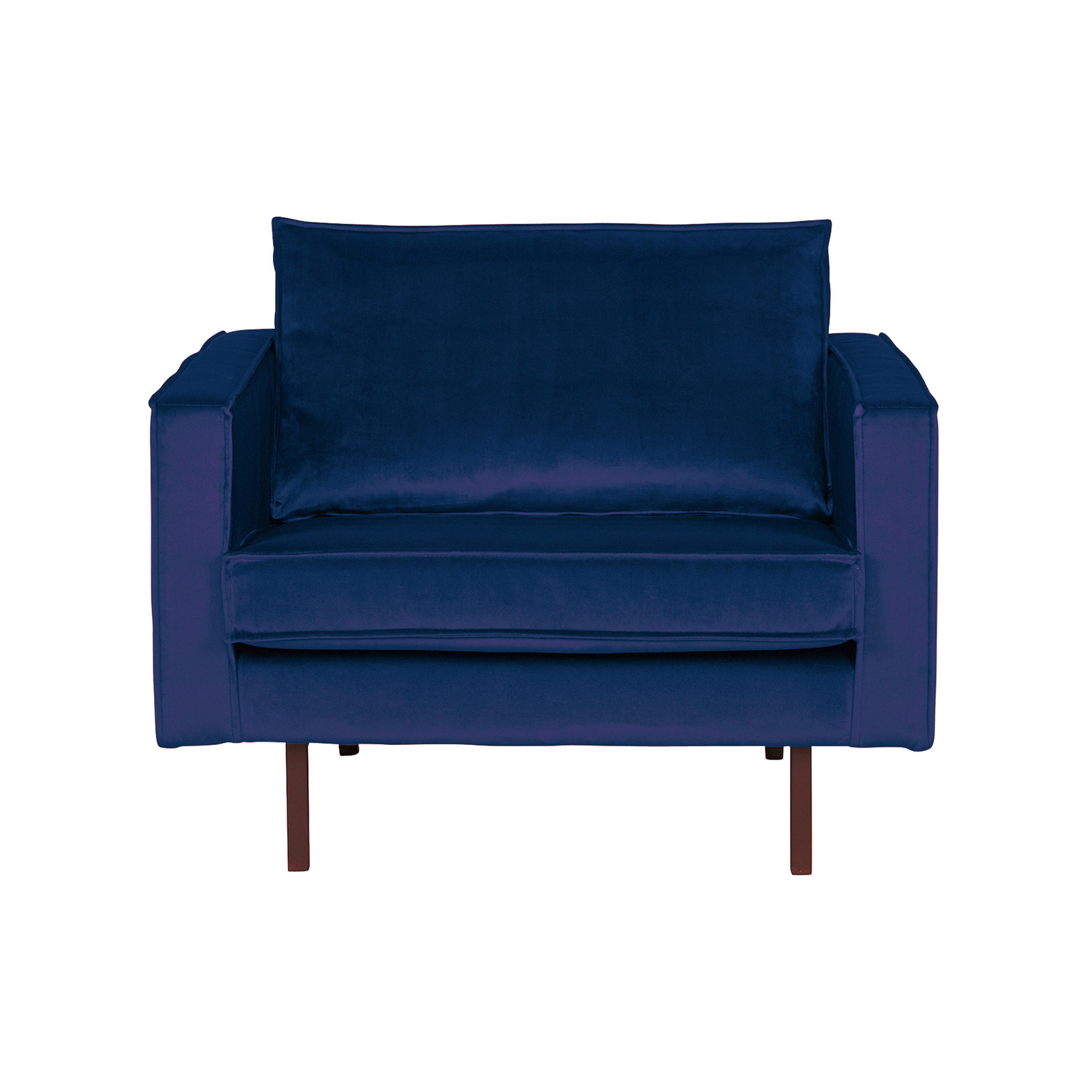 Be Pure Home Rodeo Fauteuil Velvet Dark Blue Nightshade