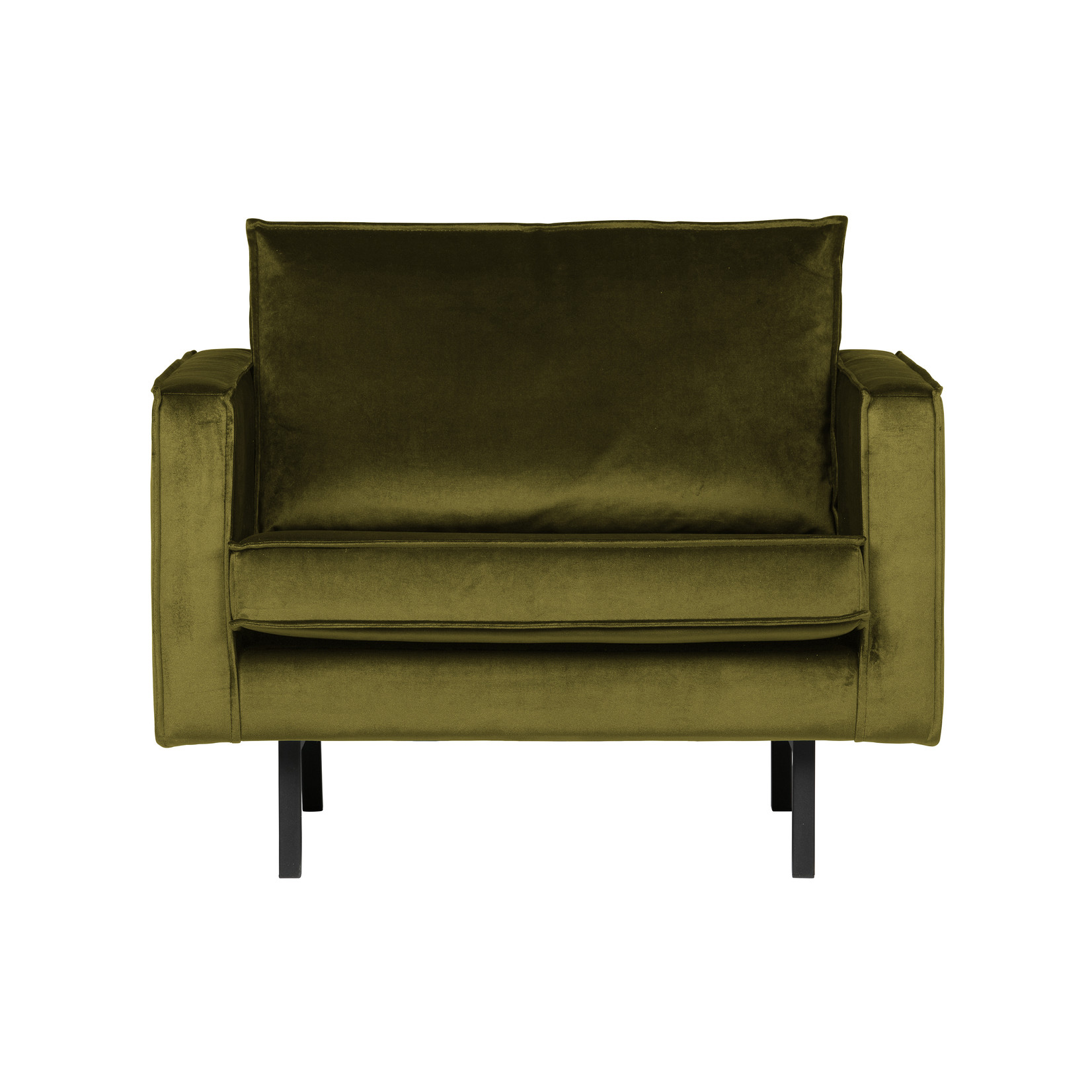 Be Pure Home Rodeo Fauteuil Velvet Olive