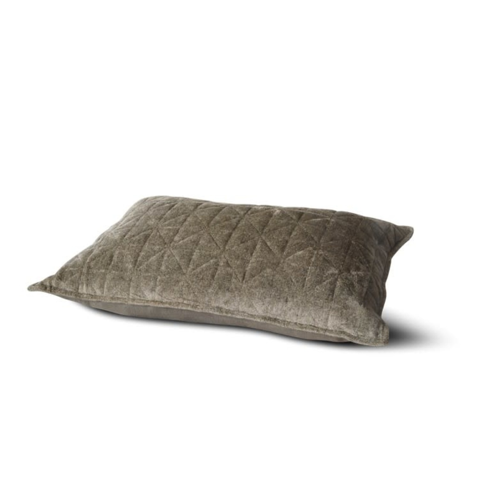 Brynxz Cushion viscose chenille quilted Green  40x60cm