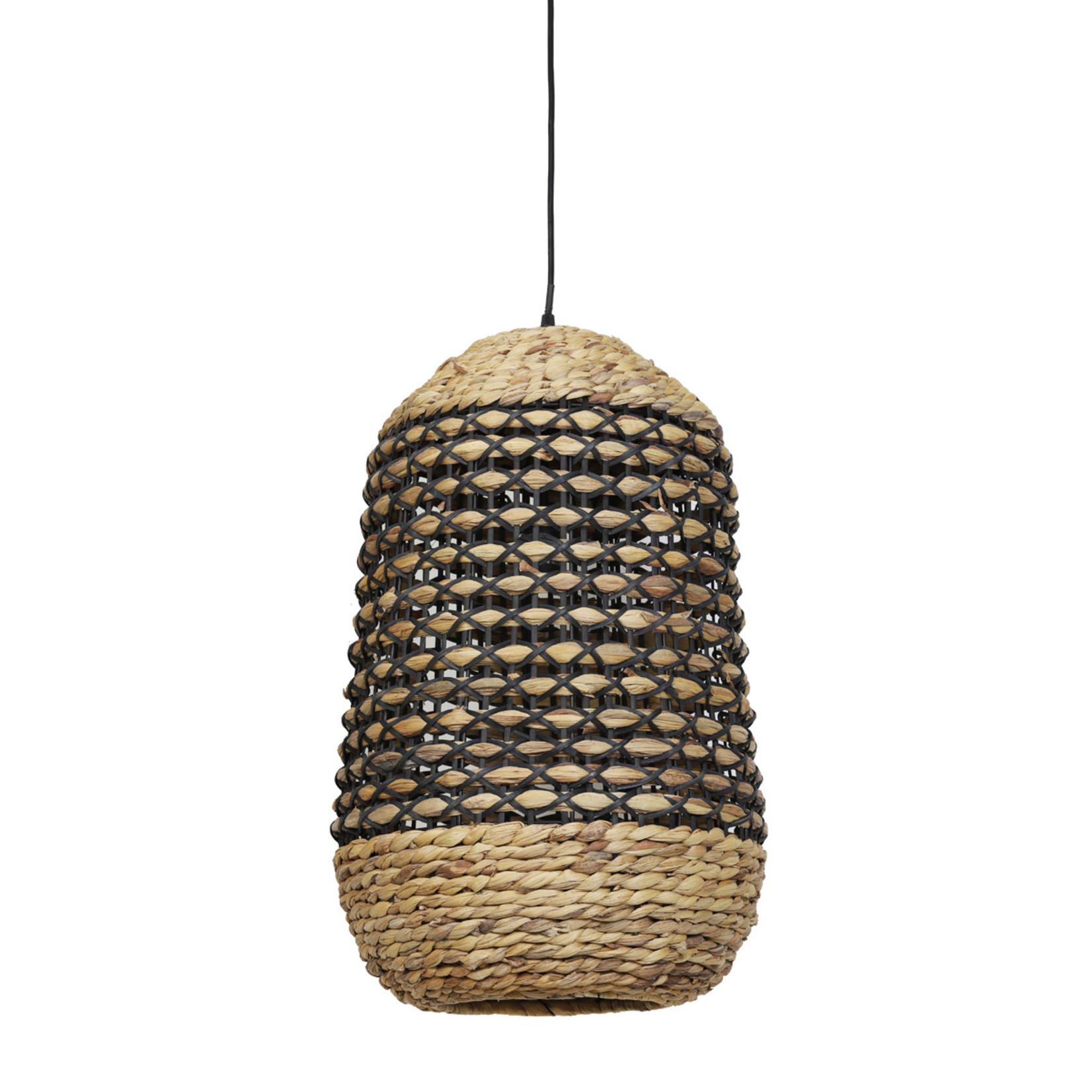 Light & Living Hanglamp Tripoli 37,5x58 cm naturel/zwart