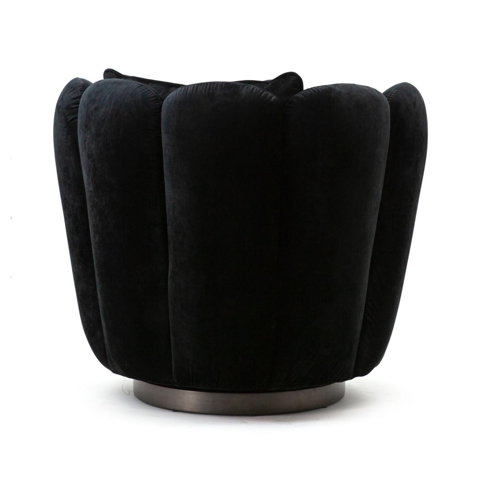 Eleonora Fauteuil Maria - zwart velvet
