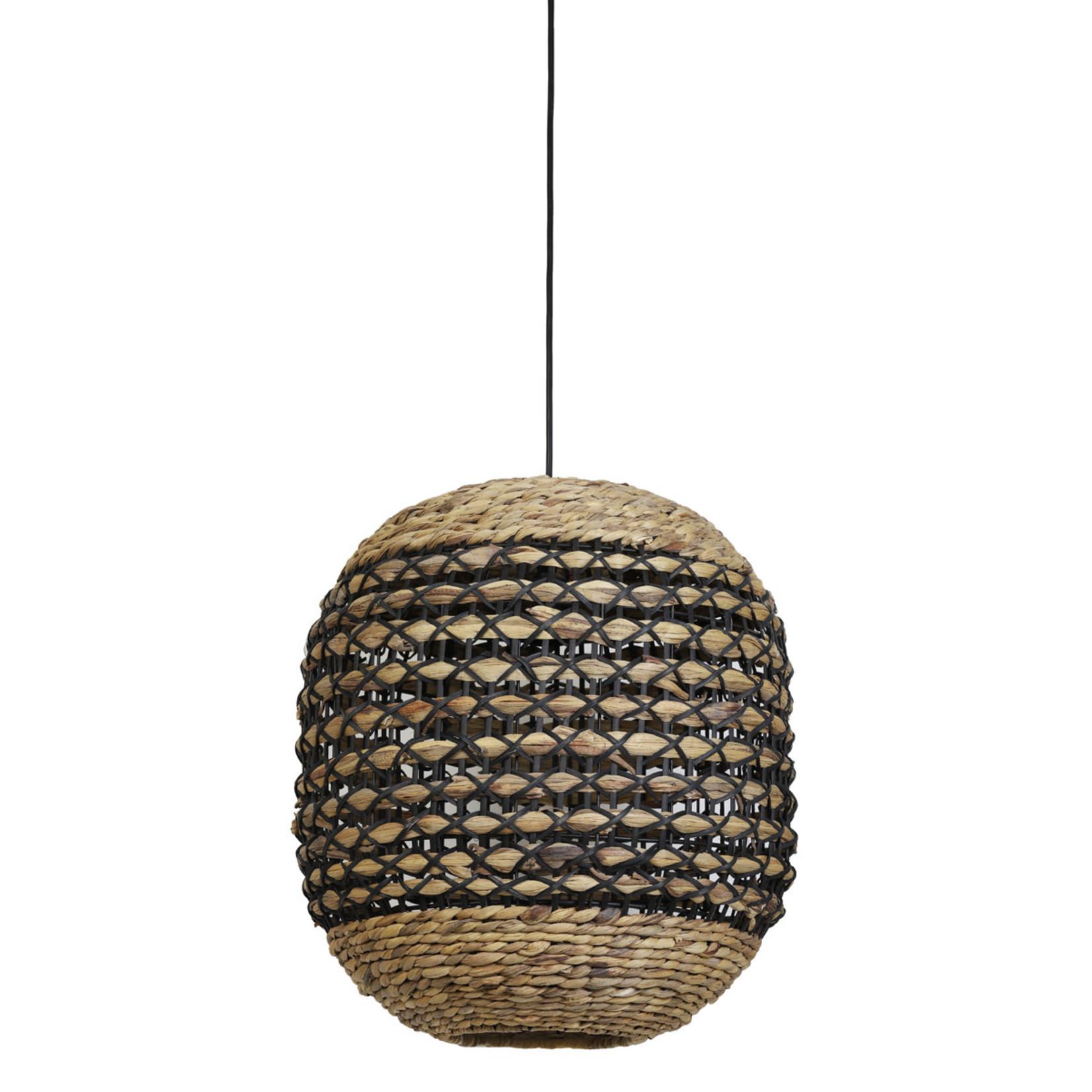 Light & Living Hanglamp Tripoli 42x47 cm naturel zwart