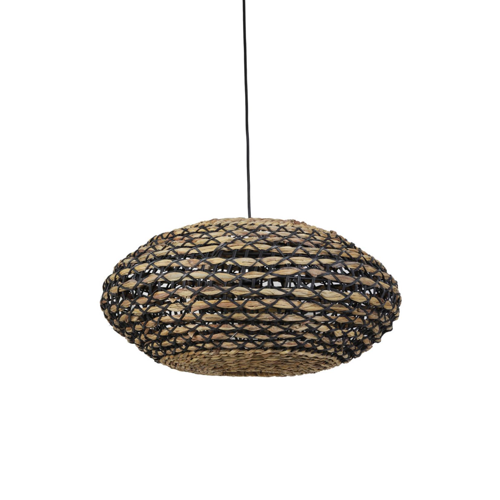 Light & Living Hanglamp Tripoli 60x29.5 cm naturel zwart