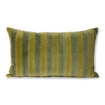 HK Living striped velvet cushion green/camo (30x50)