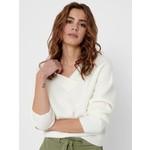 Jacqueline de Yong (JDY) JDY Sandy v-neck pullover knit White