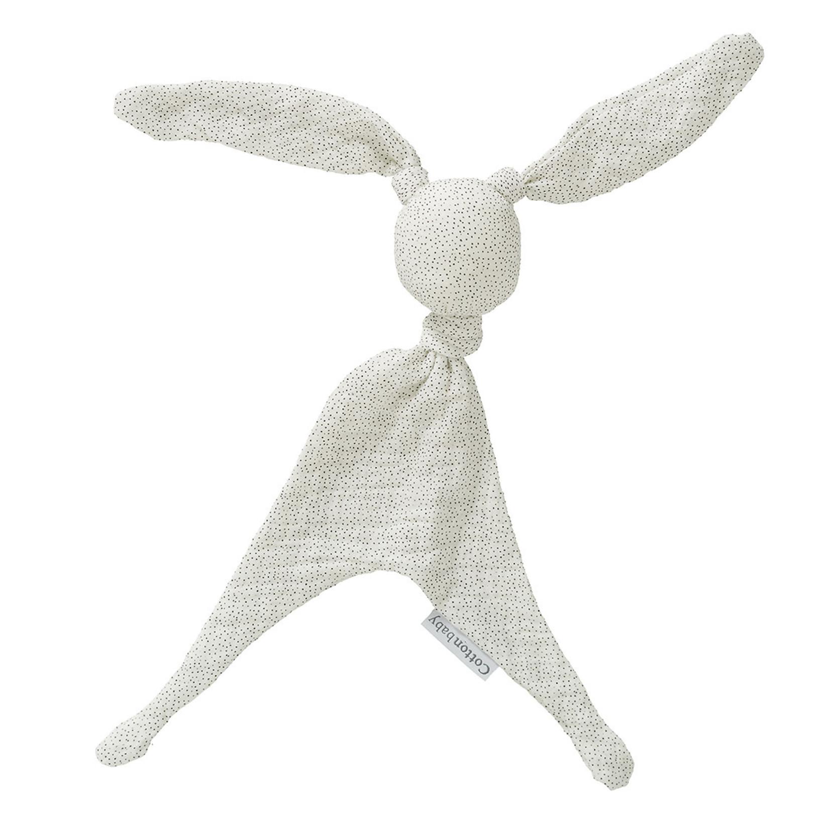 Cottonbaby Cottonbaby Knuffel Soft Sparkle wit/zwart