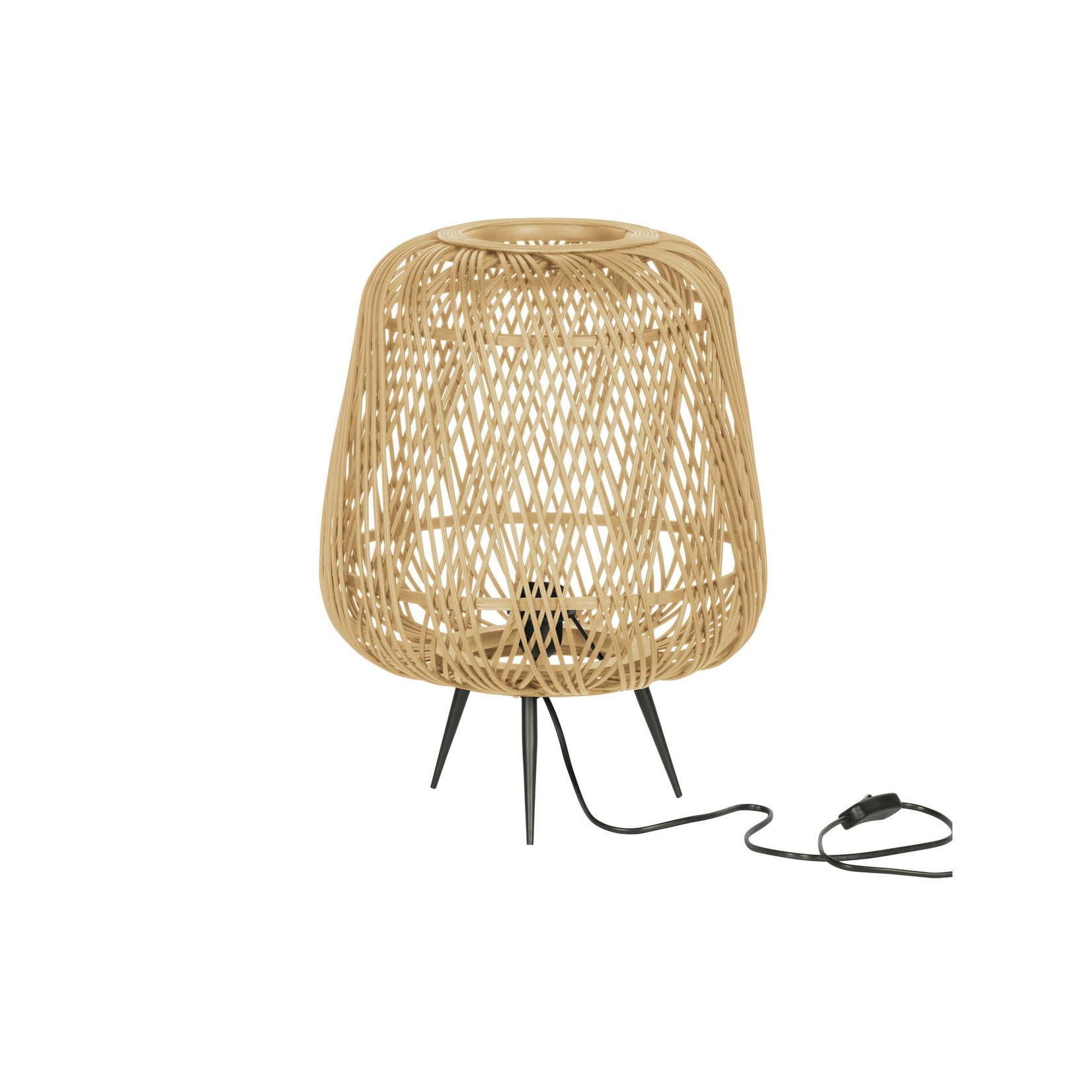 Woood Woood | Moza tafellamp bamboe naturel