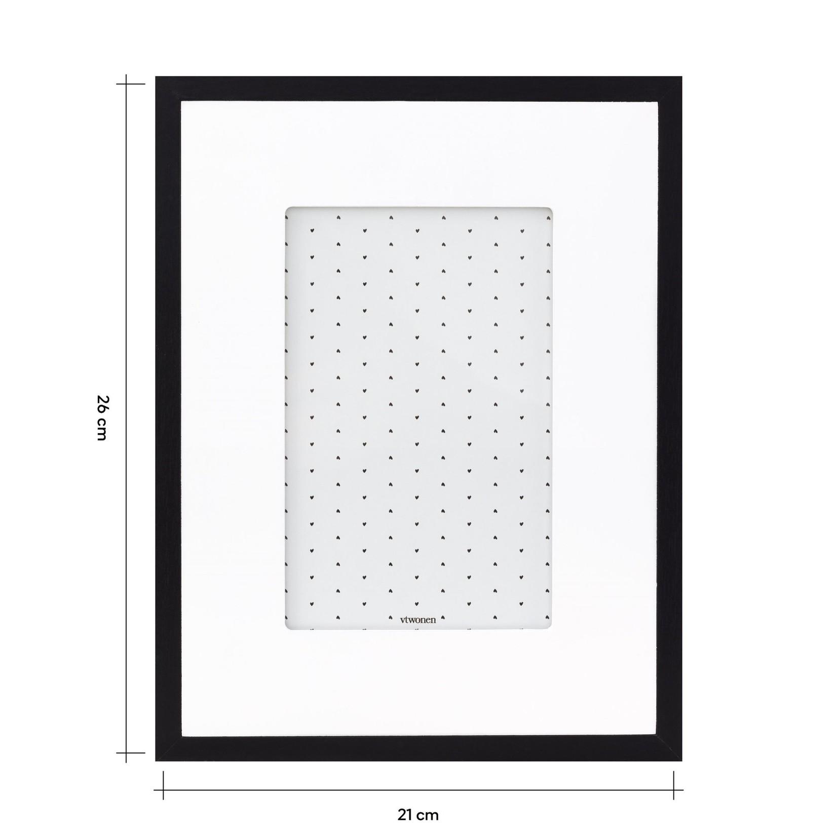 vtwonen Vtwonen Photo Frame with Passe Partout Black 21x26x3cm