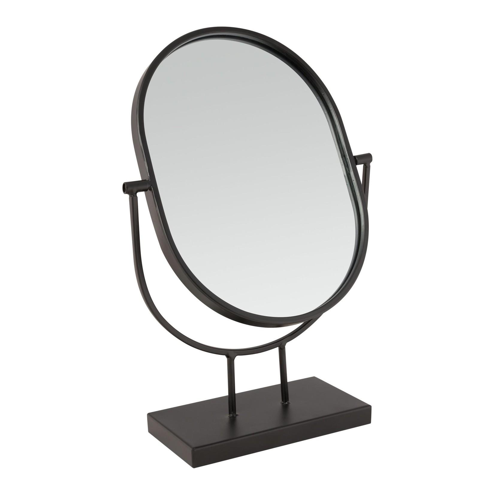 vtwonen Vtwonen Mirror Oval on Stand Black 20.3x31.1x8.5cm