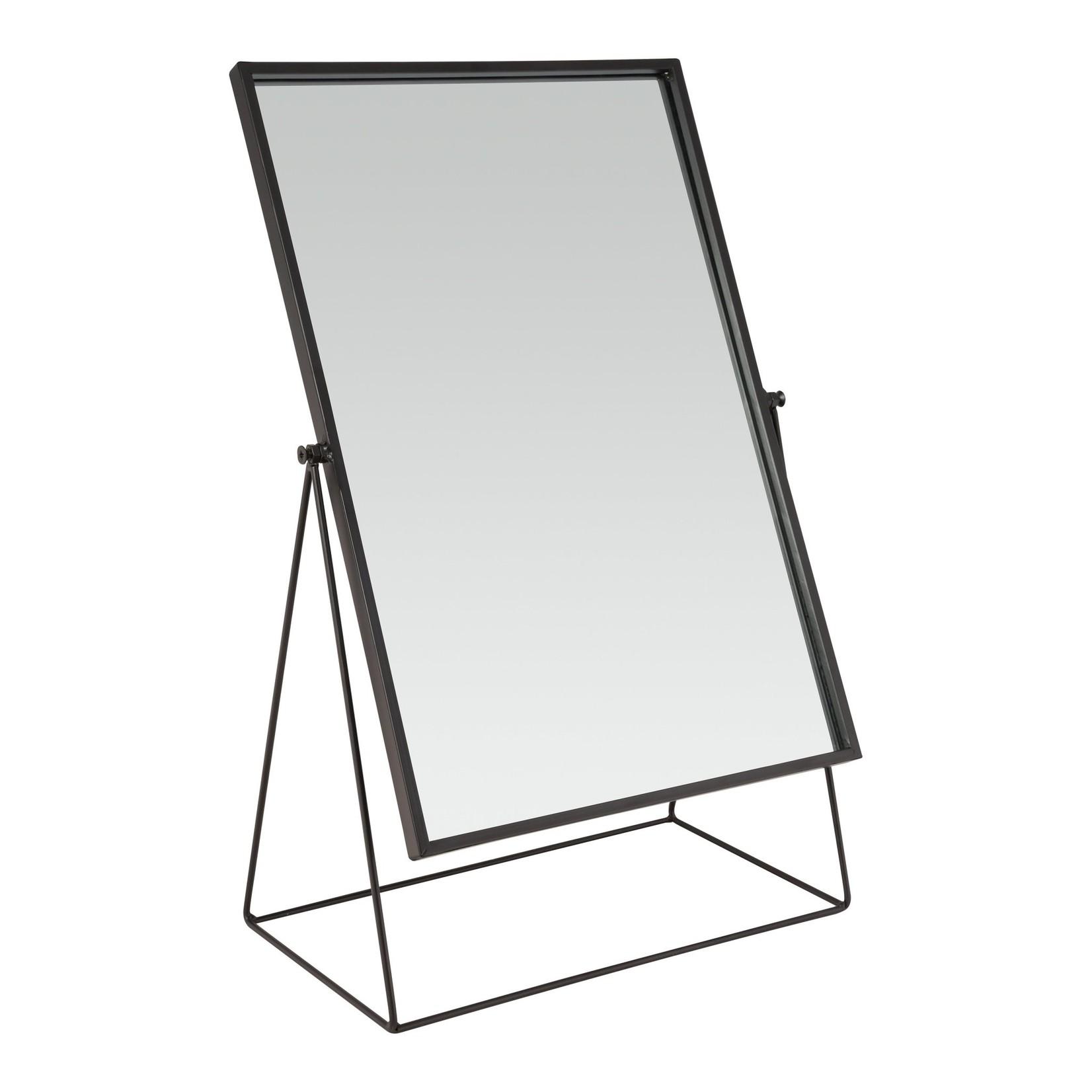 vtwonen Vtwonen Mirror Rectangular on Stand Black 33x53.5x17cm