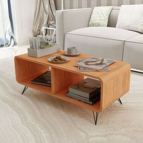 Tv-meubel 90x39x38,5 cm hout bruin