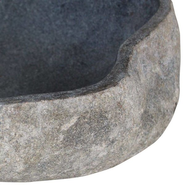 Wastafel riviersteen ovaal 46-52 cm