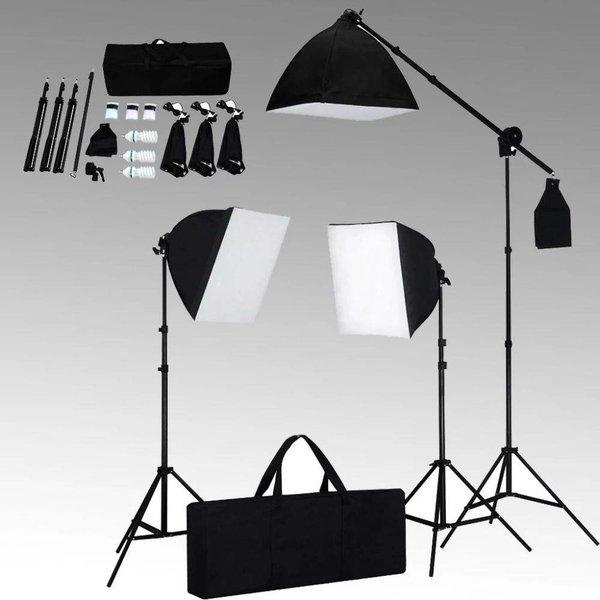 Studioset met 3 fotolampen / statief / softbox