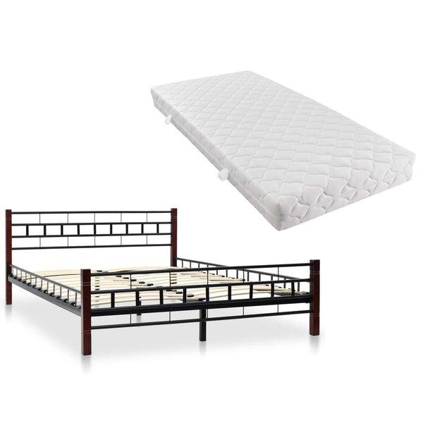 Bed 140x200 Met Matras.Bed Met Matras Metaal Zwart 140x200 Cm Voordeelkoning Nl Goed En