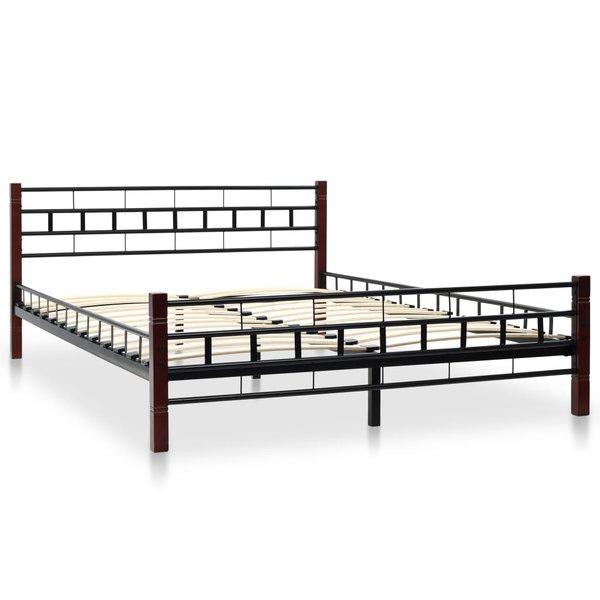 Zwart Bed 140x200.Bed Met Matras Metaal Zwart 140x200 Cm Voordeelkoning Nl Goed En