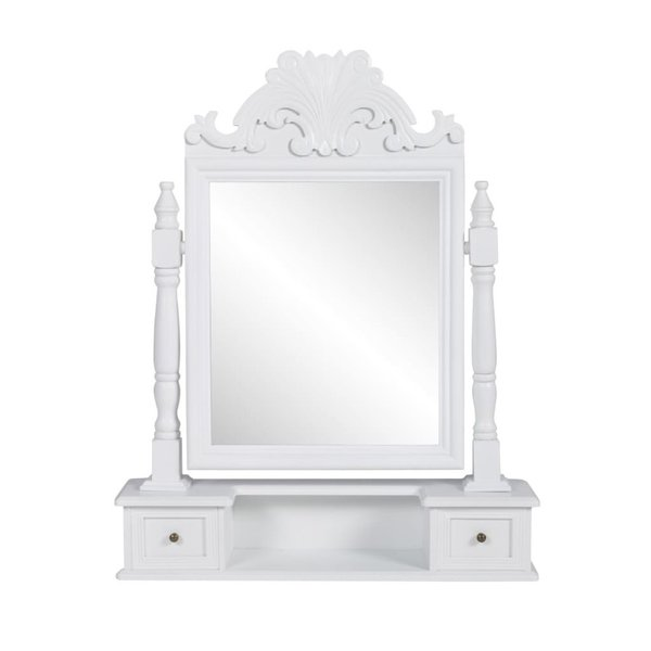 Spiegel Voor Op Kaptafel.Kaptafel Met Draaiende Rechthoekige Spiegel Mdf Voordeelkoning Nl