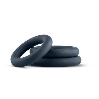 Boners 3-Piece Cock Ring Set - Grey